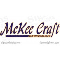 "McKee Craft Boat Logo  2 colors 16"" x 4"""