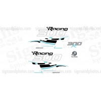 Mercury Racing 300R Verado 4 Stroke Decal set
