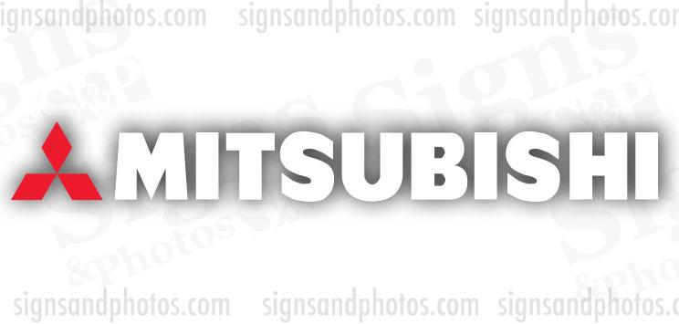 Mitsubishi Vinyl Decal Emblem Logo