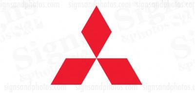 Mitsubishi Vinyl Decal Emblem