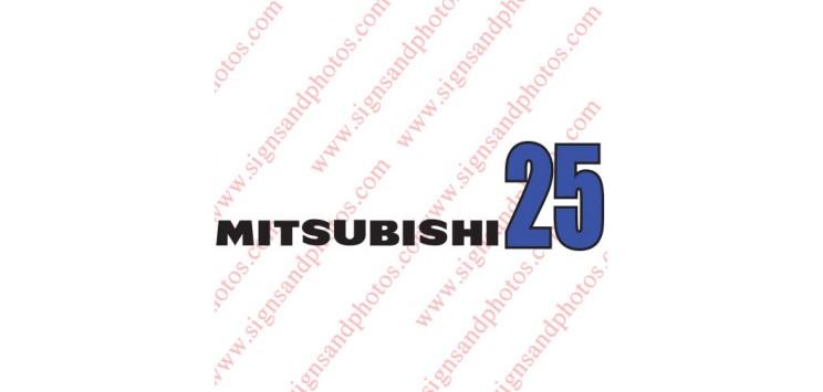 Mitsubishi Vinyl Decal Emblem Logo 25