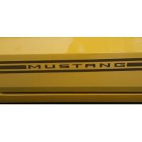 Mustang Side Stripes  Black