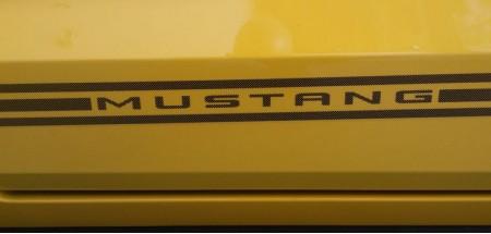 Mustang Side Stripes  Black