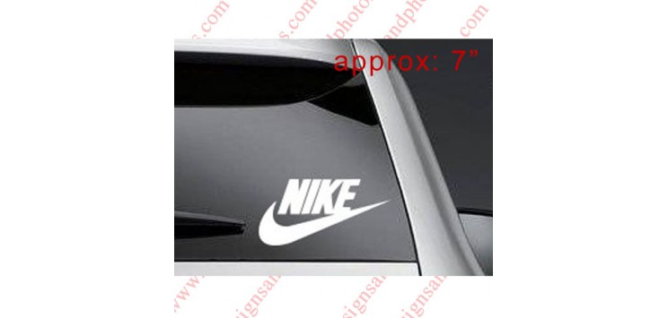 "7"" Nike  Decal Sticker Vinyl Check logo- Any Color!"