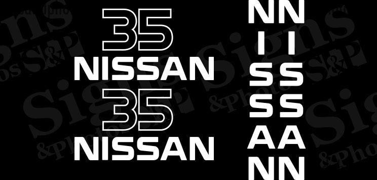 Nissan  35  Decal Kit (2005)