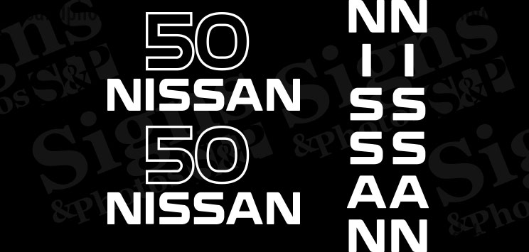 Nissan  50  Decal Kit (2005)