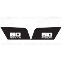 Nissan  80  Decal  (Black and White)