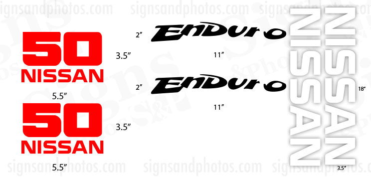Nissan  50 Enduro  Decal Kit
