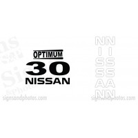 Nissan Optimum 30  Decal Kit