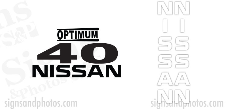 Nissan Optimum 40  Decal Kit
