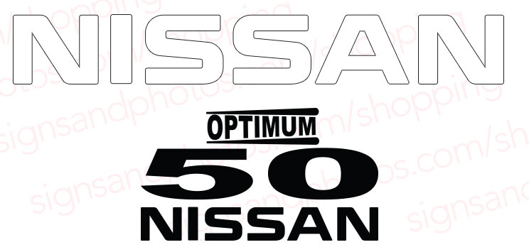 Nissan Optimum 50  Decal Kit