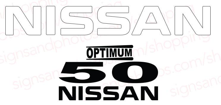 Nissan Optimum 50  Decal Kit