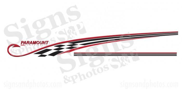 Paramount Boat Logo Graphic Decals