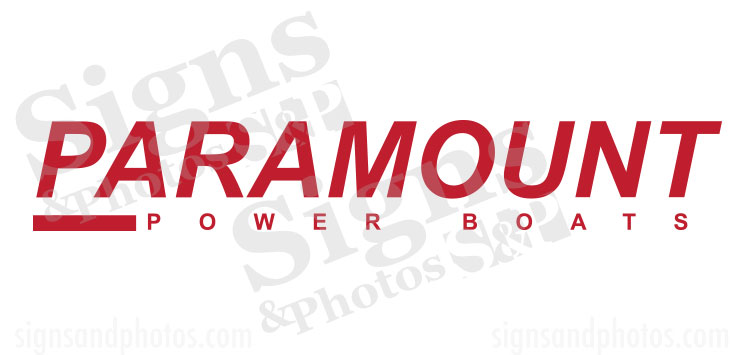 Paramount Boat Name Decals
