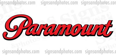 Paramount Boat Name Decals 2 colors