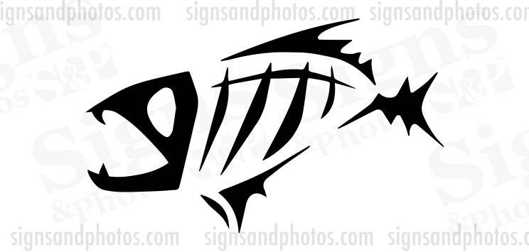 "Piranha tribal Decal 7"" x 4.5"""