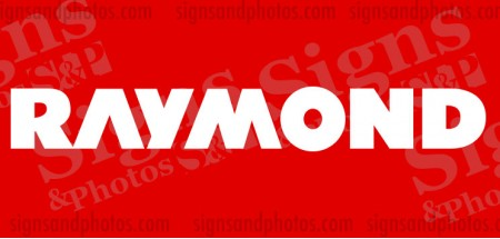 "Raymond forklift Decal 22""x3"""