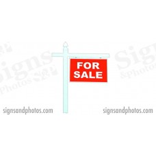 Real Estate Single Arm Sign Post