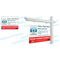 """Real Estate Hanging Sign Panel with grommets, 18""""x24"""" (4-Piece)"""