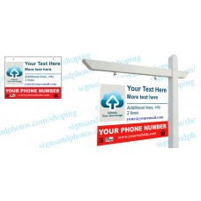 "Real Estate Hanging Sign Panel with grommets, 18""x24"" (2-Piece)"