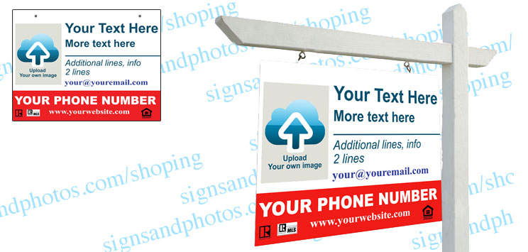 "Real Estate Hanging Sign Panel with grommets, 18""x24"" (4-Piece)"