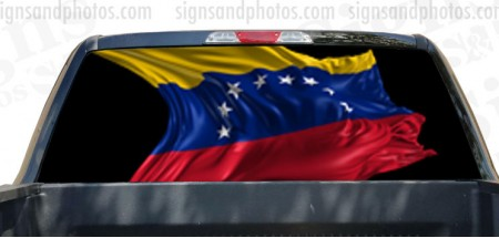 Rear Window Graphic Venezuela Flag