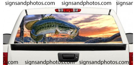 Rear Window Graphic Fishing