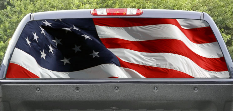 Rear Window Graphic USA Flag
