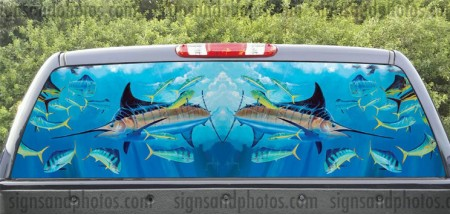 Rear Window Graphic Marlin Fishing-2