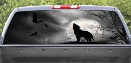 Rear Window Graphic Wolf