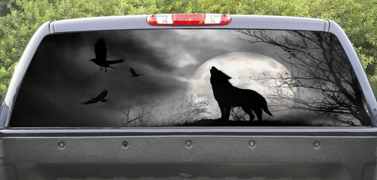 Rear Window Graphic Wolf