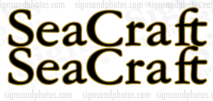 Sea Craft Boat  Decals 2 Colors
