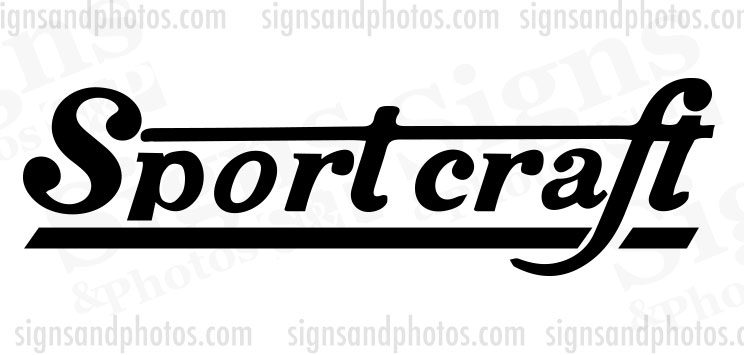 Sport Craft  Decal