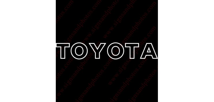 Toyota Decal outline