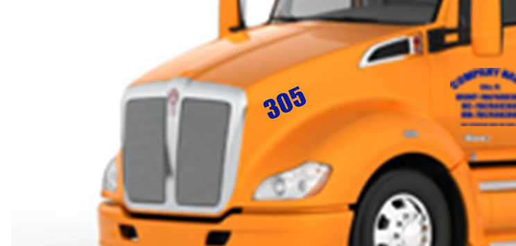 Number Decal for Trucks