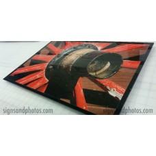 "Wall Glass Art Old Wagon Wheel 16"" x20"""