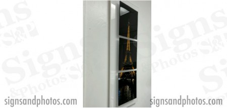 "Wall Glass Art Eiffel Tower 12"" x30"""