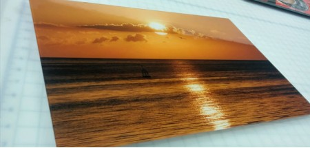 "Wall Glass Sunset Habana Cuba 16"" x20"""