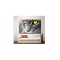 Wall Glass Art Cat