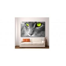Wall Glass Art Cat
