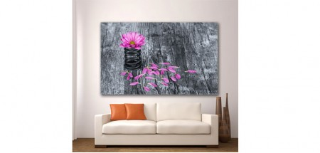 Wall Glass Art Flower