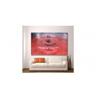 Wall Glass Art Red Drop