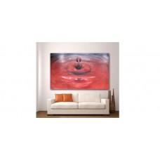 Wall Glass Art Red Drop