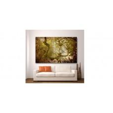 Wall Glass Art Tree