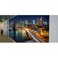 Wall Wraps 8' x 12' manhattan nightt aerial
