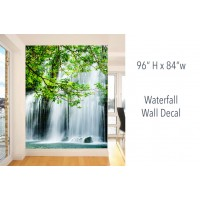 "Waterfall Wall Decals 96"" H x 84"" W"
