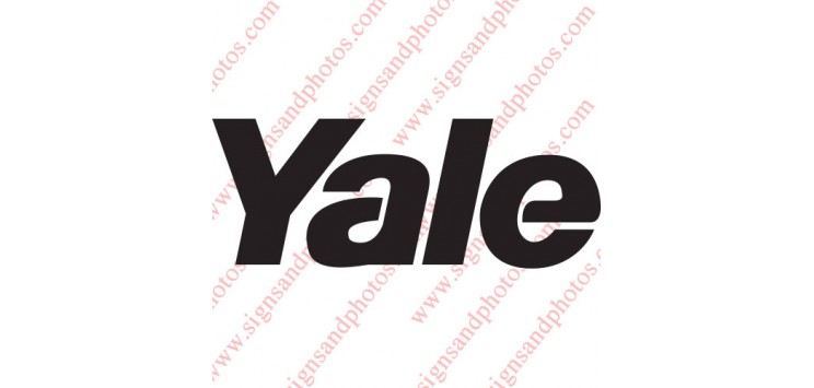 Yale forklift Decal