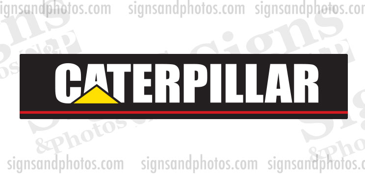 "Caterpillar forklift Decal 18""x3.5"""