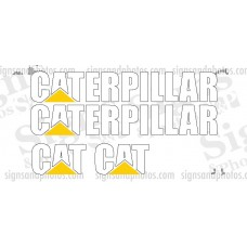 Caterpillar Vinyl Decal Forklift Kit  2 CAT, 2 CATERPILLAR