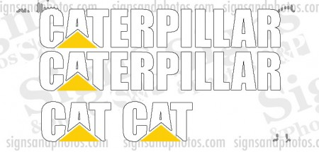 Caterpillar Vinyl Decal Forklift Kit  2 CAT, 2 CATERPILLAR